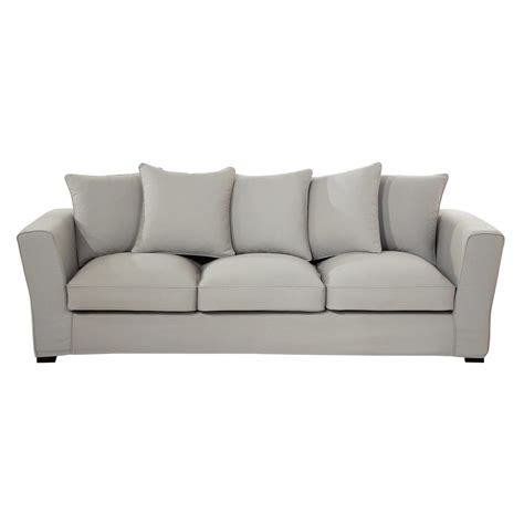 canapé tissu 4 places canapé 4 places en tissu gris clair balthazar maisons du
