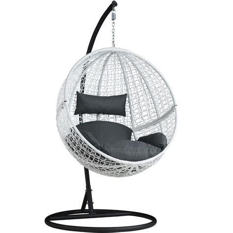 siege en osier chaise hamac avec support fauteuil suspendu de jardin