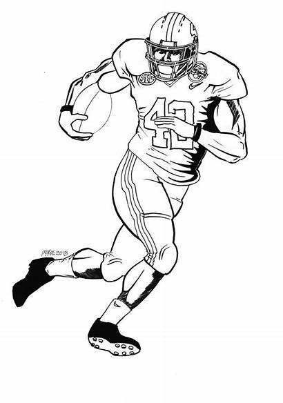 Football Coloring Player Pages Players Drawing Alabama