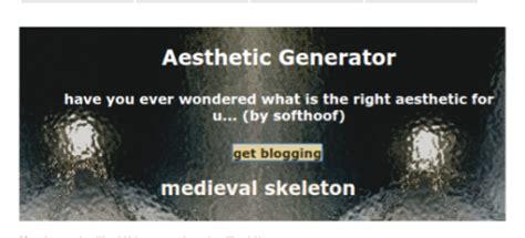 Aesthetic Generator On Tumblr