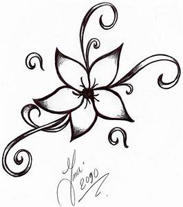 Simple Flower Designs To Draw - Drawing Of Pencil