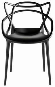 Chaise Plastique Noir : fauteuil masters kartell plastique noir made in design ~ Teatrodelosmanantiales.com Idées de Décoration