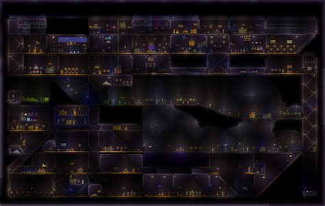Terraria Halloween Event Arena by Official 2014 Relogic Terraria Halloween Contest Entry