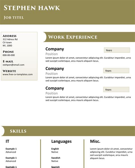 Popular Cv Templates by Top Notch High Quality Resume Template For Free