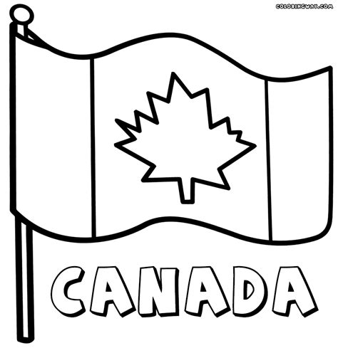 canadian flag coloring pages coloring pages