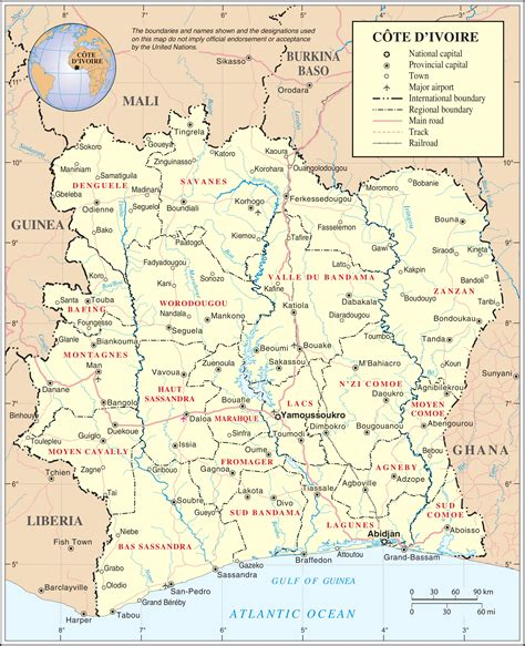 Karte Elfenbeinkueste (Politische Karte) : Weltkarte.com ...