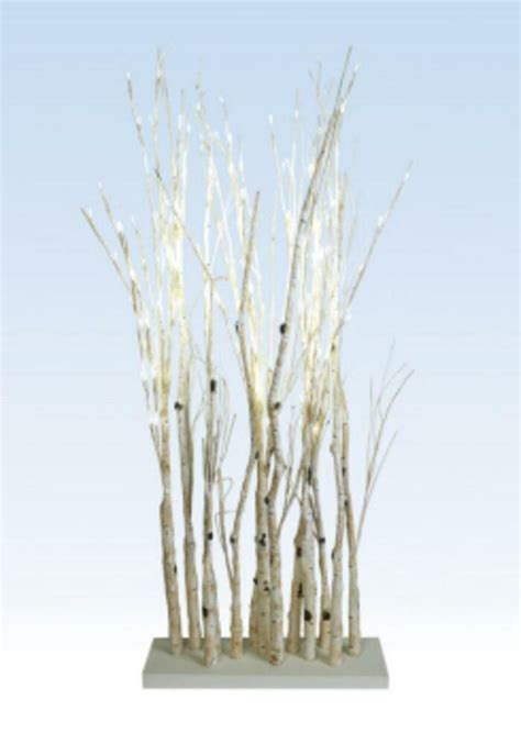 48 quot led lighted enchanted garden standing birch branches decoration warm white ebay