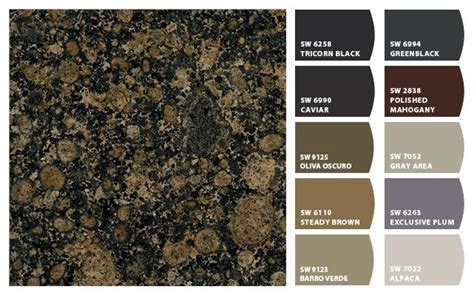 paint colors to match baltic brown granite paint colors with baltic brown granite homespirations