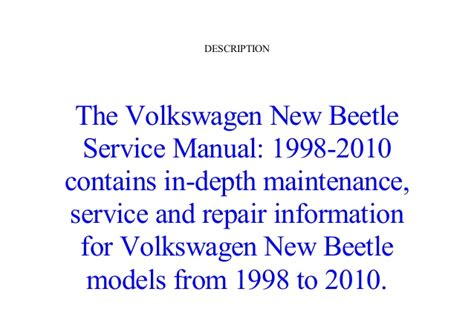 free car manuals to download 2003 volkswagen new beetle on board diagnostic system online free volkswagen new beetle service manual 1998 1999 2000