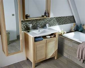 meubles de salle de bain castorama wasuk With meuble miroir salle de bain castorama
