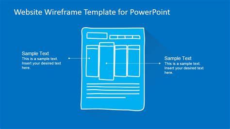 website wireframe template  powerpoint slidemodel