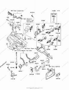 Kawasaki Motorcycle 2006 Oem Parts Diagram For Ignition Switch  Locks  Reflectors
