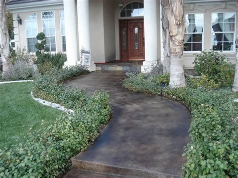 stained concrete walkway photo gallery concrete walkways murrieta ca the concrete network