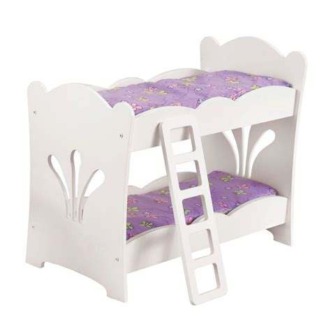 Kidkraft Dollhouse Toddler Bed by Kidkraft Lil Doll Bunk Bed 60130 The Home Depot