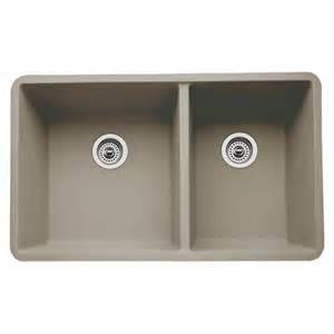 shop blanco precis 18 in x 33 in truffle double basin