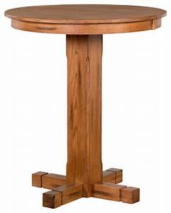 Sunny Designs Sedona 36quot Round Pub Table Rustic Oak