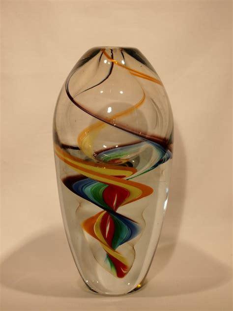 Antique Coloured Glass Vases by Antiques Atlas Murano Glass Vase Multi Colour Swirl