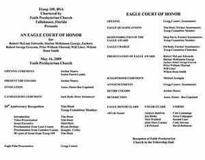 eagle scout ceremony programs templates eagle scout With eagle court of honor program template