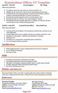 Covering Letter For Job Examinations Officer Cv Template 2