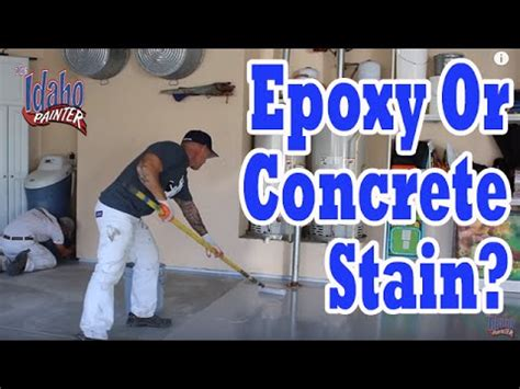 concrete stain  epoxy  garage floors  product