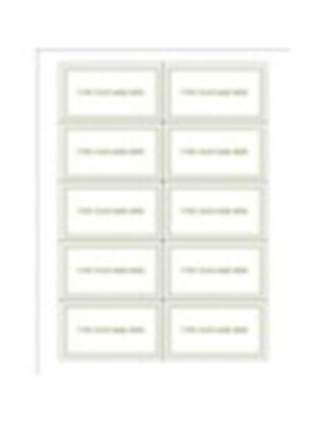 avery business card template word 8873 templates green border graduation name card 10 per