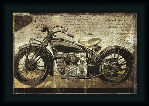 Hell On Wheels Motorcycle Photograph Framed Art Print Wall