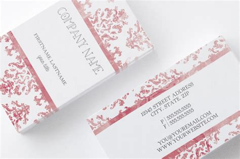 Damask Watercolor Business Card Business Card Scanning App Android Art Deco Designs Worldcard Avery Maker Software Free Download Cards Alternative Medicine Cool Artist Best On Iphone Ai File Template