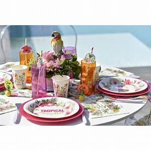 Chemin De Table Tropical : d co tropicale pas ch re d co de table tropicale ~ Melissatoandfro.com Idées de Décoration