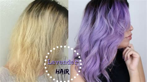 How To Lavender Pastel Hair Color Youtube