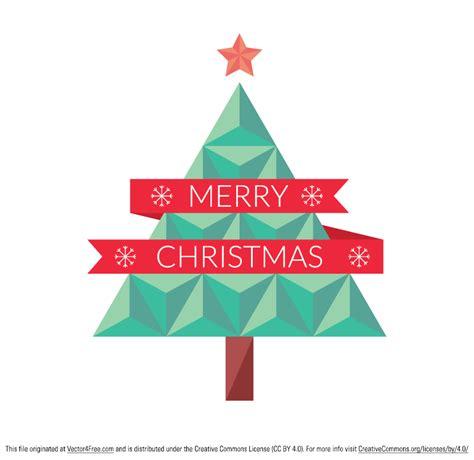 flat geometric christmas tree free vector art