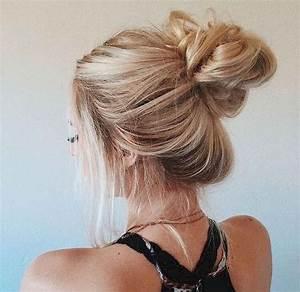 Aschblond Dunkelblond Unterschied : 27 cute and easy messy bun hairstyle ideas for summer ~ Frokenaadalensverden.com Haus und Dekorationen