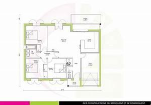 maison traditionnelle t4 de plain pied acajou 82 m2 With plan maison t4 plain pied