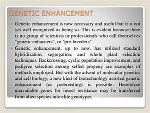 Genetic Enhancement