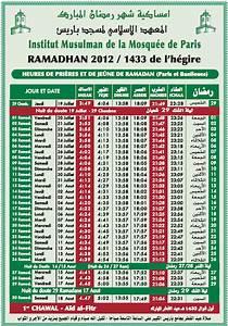Horaire Priere Orly : calendrier de ramadan la mosqu e de paris change d 39 angle ~ Medecine-chirurgie-esthetiques.com Avis de Voitures