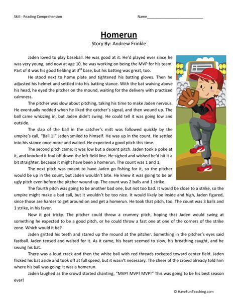 fourth grade comprehension worksheets kidz activities