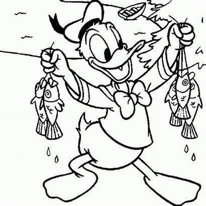 Donald Fishing Coloring Disney Pato Sheets Pesca