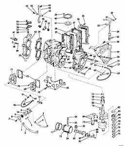 Evinrude Powerhead Group Parts For 1969 25hp 25903d