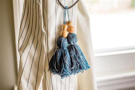 tassel curtain tie backs  tos diy