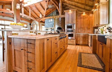 But as you can see from this example below another popular color often used in oak cabinet kitchens is red. How To Design A Kitchen With Oak Cabinetry