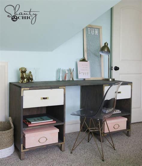 diy cubby storage desk shanty  chic