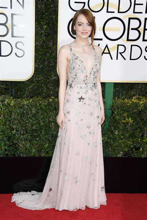 Golden Globes 2017 Emma Stone Ryan Seacrest And Her