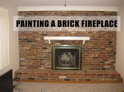 {before/after} Painting A Brick Fireplace