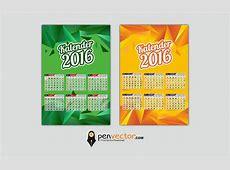 calendar 2016 template vector design Free Vector