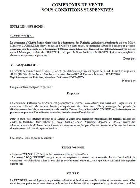 vente des terrains du bager r 233 v 233 lations sur le compromis de vente entre la mairie et gc