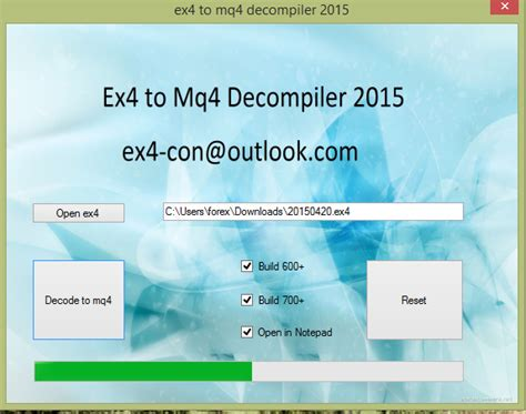 Ex4 To Mq4 Decompiler 4 0 392 11th