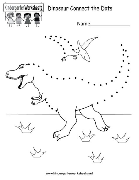 free printable dinosaur connect the dots for kindergarten