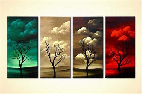 painting  sale multi panel canvas  seasons