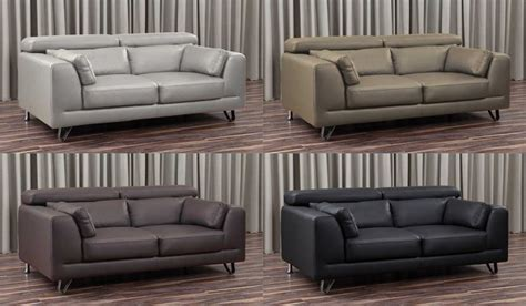 venezia leather sectional and venezia leather 2 seater sofa by delux deco