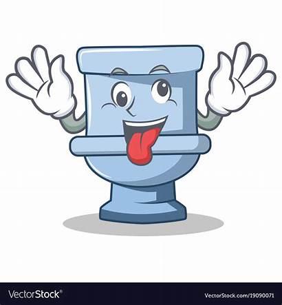 Toilet Cartoon Crazy Character Vector Royalty