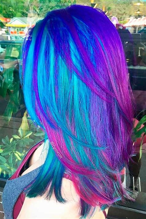 42 Fabulous Purple And Blue Hair Styles Beautiful